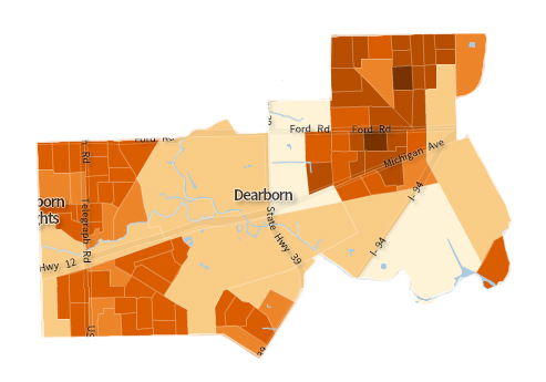Dearborn Population Density