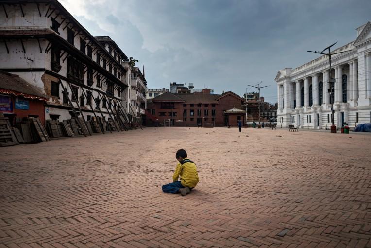 empty kathmandu streets